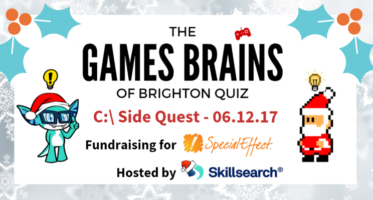 The Games Brains of Brighton Xmas Pub Quiz 2017 is HERE!