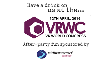 The Drinks are on Us! VR World Congress 2016