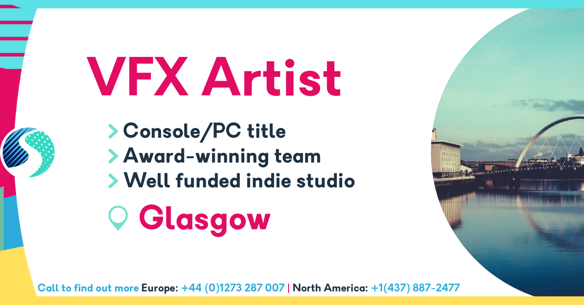 VFX Artist in Glasgow - Console/PC title - Award-winning team - Well funded indie studio