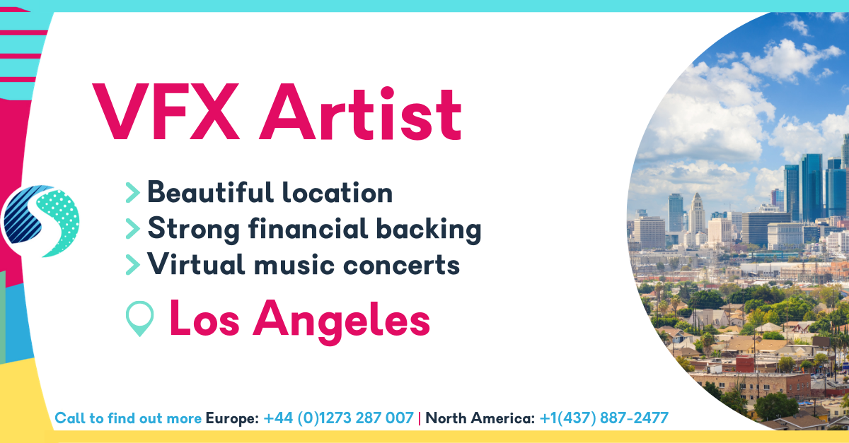 VFX Artist in Los Angeles - Veautiful location - strong financial backing - virtual music concerts