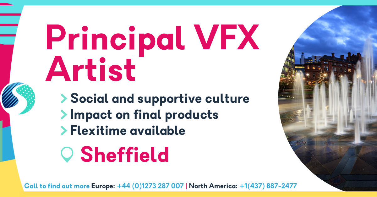 Principal VFX Artist - Social and supportive culture - Impact on final products - flexitime available