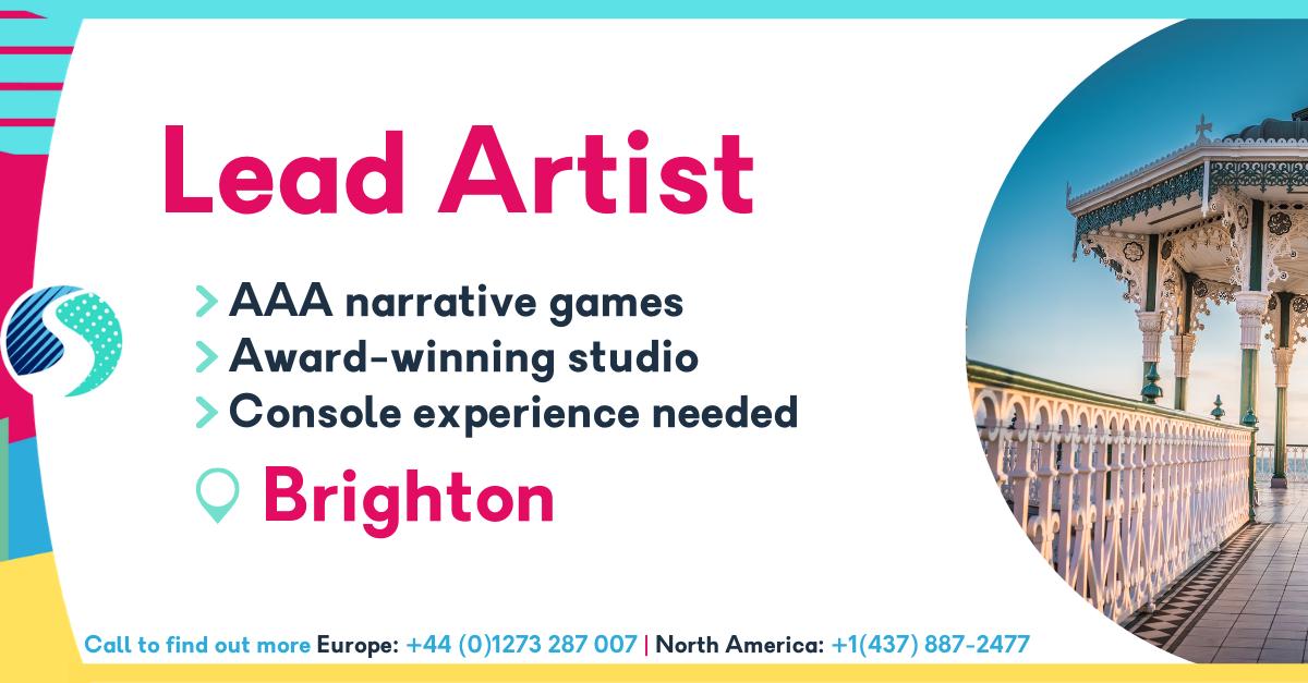 Lead Artist in Brighton - AAA narrative games - Award-winning studio - console experience needed