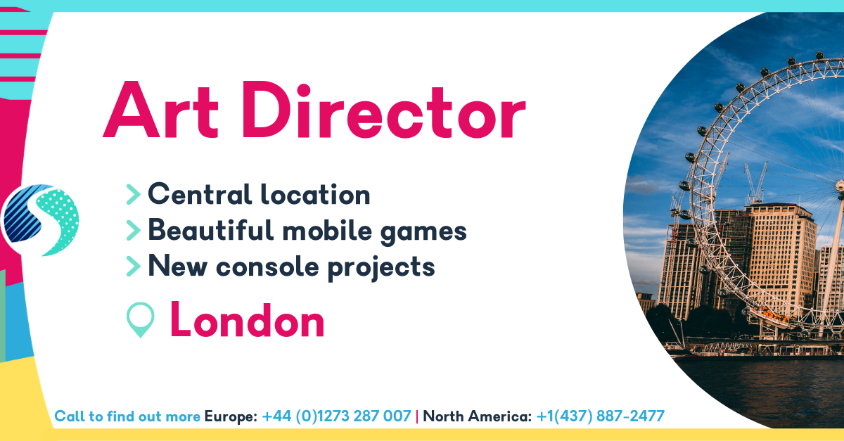Art Director - Central location - Beautiful mobile games - New console projects