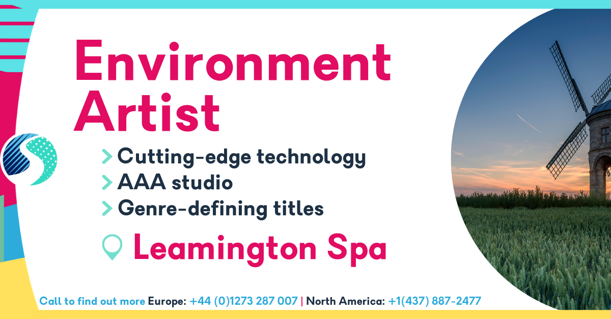 Environment Artist Job in Leamington Spa - Cutting-edge technology - AAA studio - Genre-defining titles