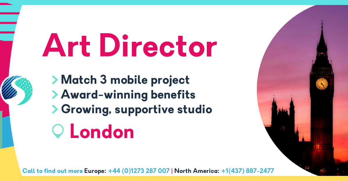 Art Director in London - Match 3 mobile project - Award-winning benefits - Growing, supportive studio