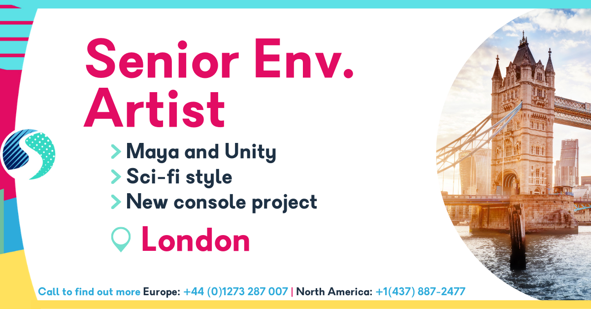 Senior Environment Artist in London - Maya and Unity - Sci-fi style - New console project