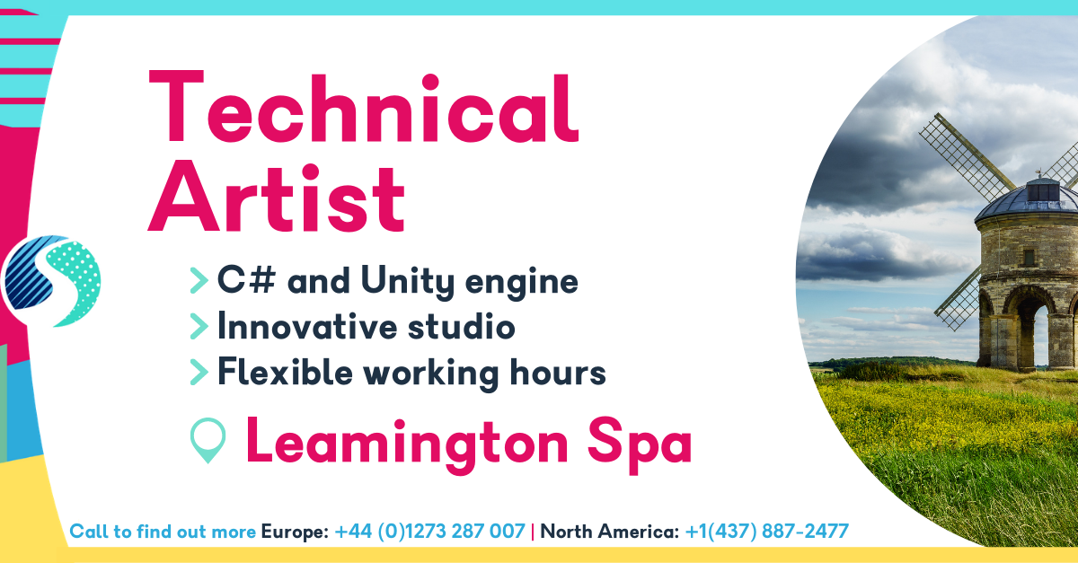Technical Artist in Leamington Spa - C# and Unity engine - Innovative studio - Flexible working hours