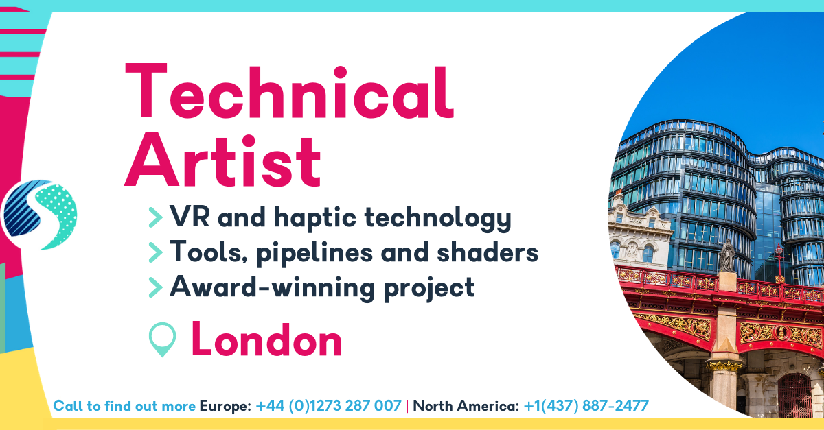 Technical Artist in London - VR and haptic technology - Tools, pipelines and shaders - Award-winning project