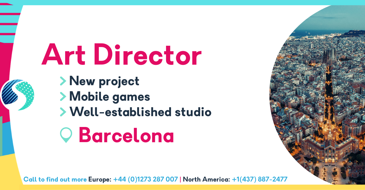 Art Director in Barcelona - Mobile Games - Brand New Project - Well-Established Studio