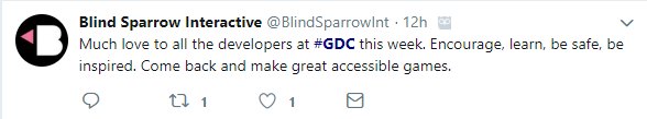 Blind Sparrow Interactive Tweet