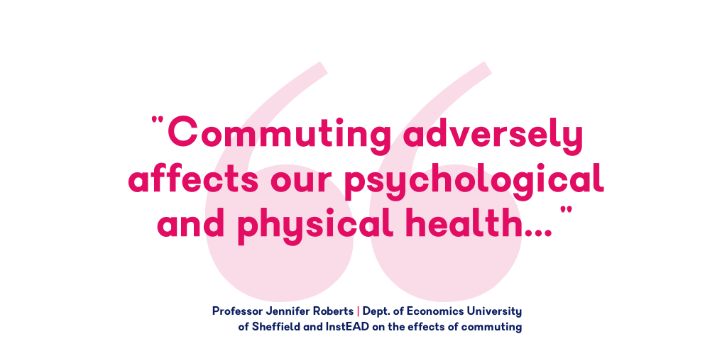 Commuting adversely affects our psychological and physical health