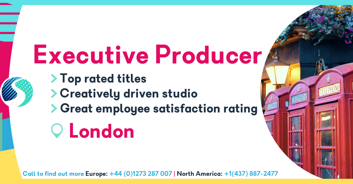 Executive Producer - London - Top Rated Titles - Excellent Employee Satisfaction Rating - Creatively Driven Studio
