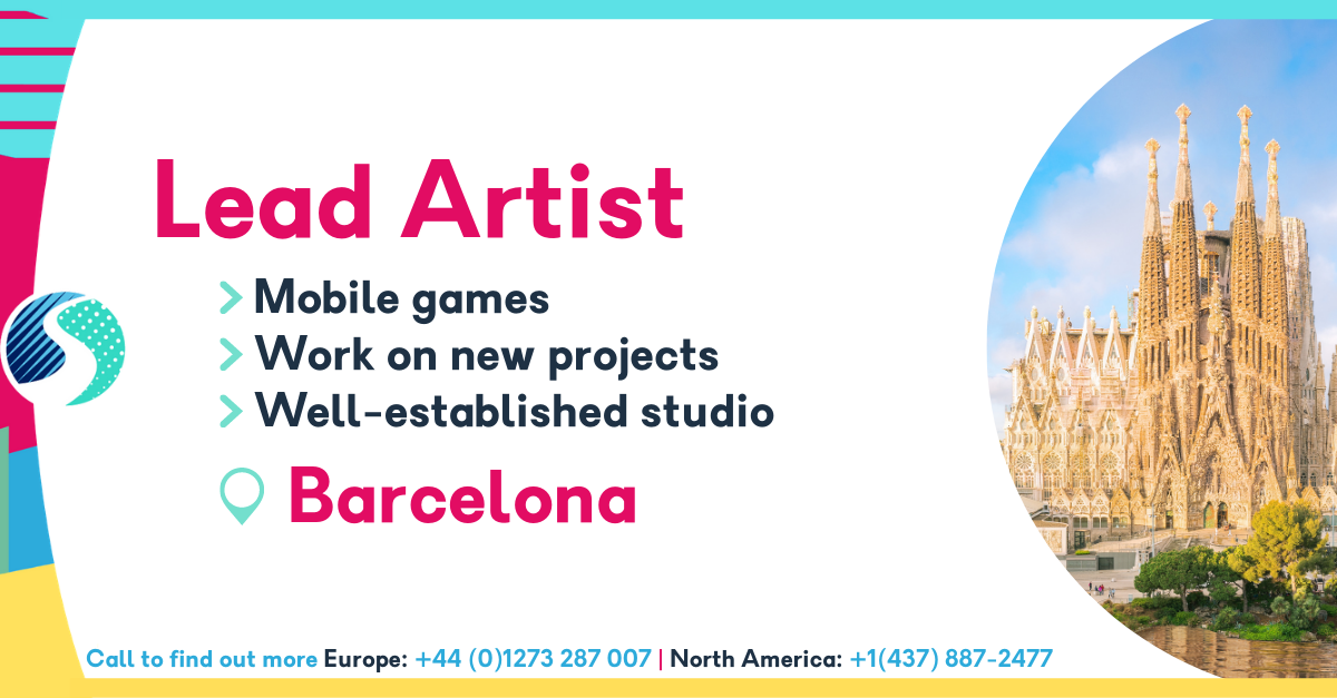 Lead Artist in Barcelona - Mobile Games - Well-Established Studio - Work on New Projects