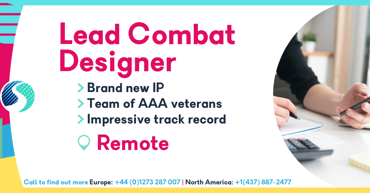 Remote Lead Combat Designer - Brand New IP - Team of AAA Veterans - Impressive Track Record