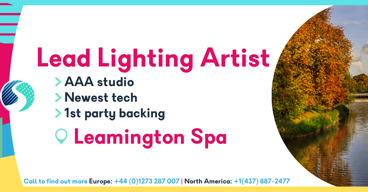 Lead Lighting Artist in Leamington Spa - 1st Party Backing - AAA Studio - Newest Tech