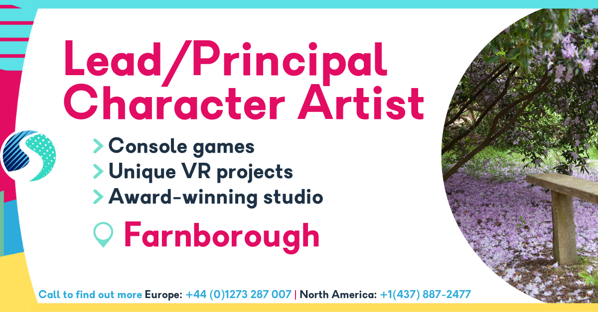 Lead/Principal Character Artist in Farnborough - Console Games - Award-Winning Studio - Unique VR Projects
