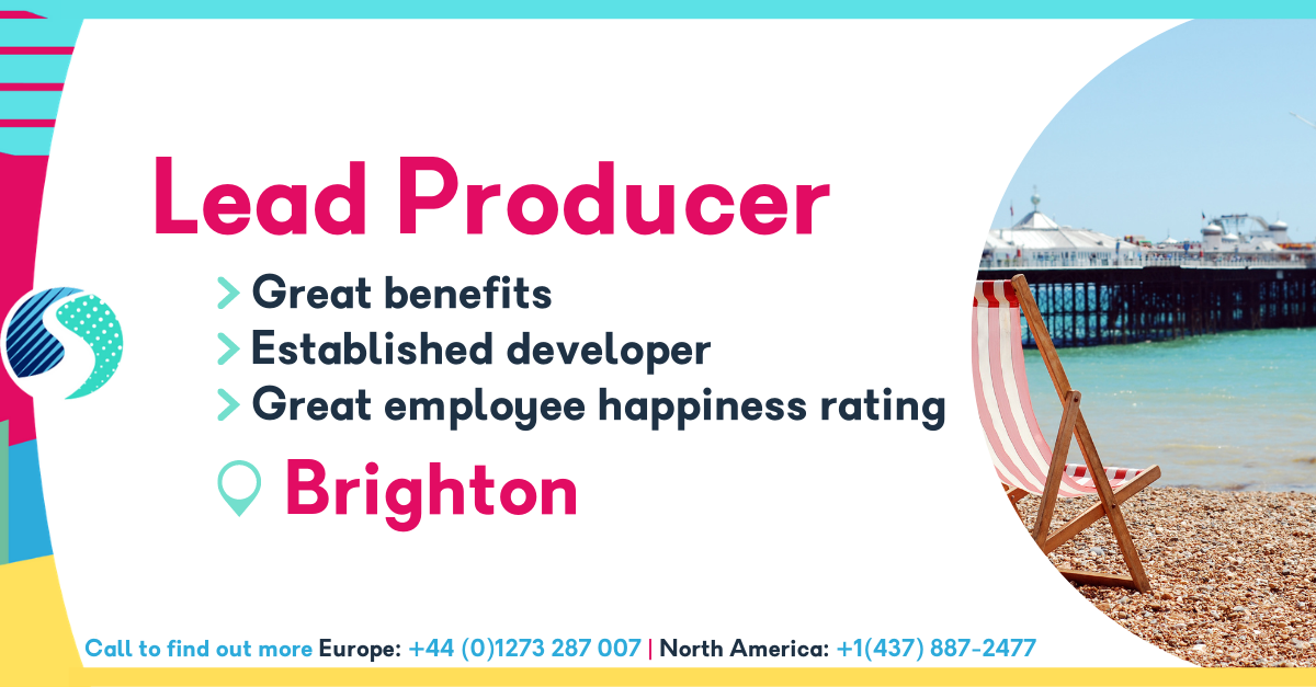 Lead Producer - Brighton - Established Games Developer - Great Benefits Package - Excellent Employee Happiness Rating