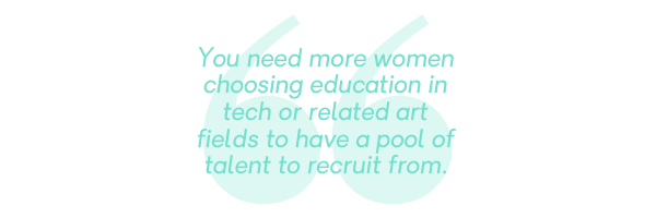 More women choosing tech quote