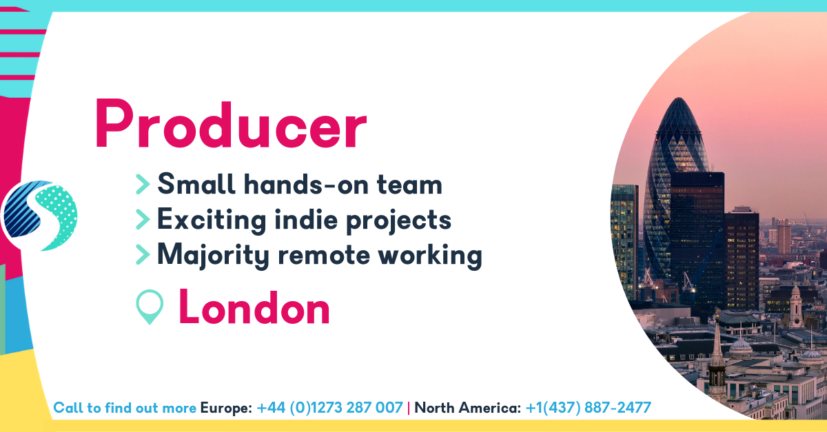 Producer - London - Majority Remote Working - Small Hands-On Team - Exciting Indie Projects