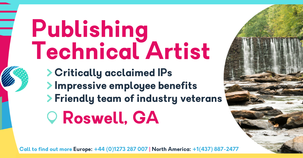 Publishing Technical Artist in Roswell, GA - Critically Acclaimed IP - Impressive Employee Benefits - Friendly Team of Industry Veterans