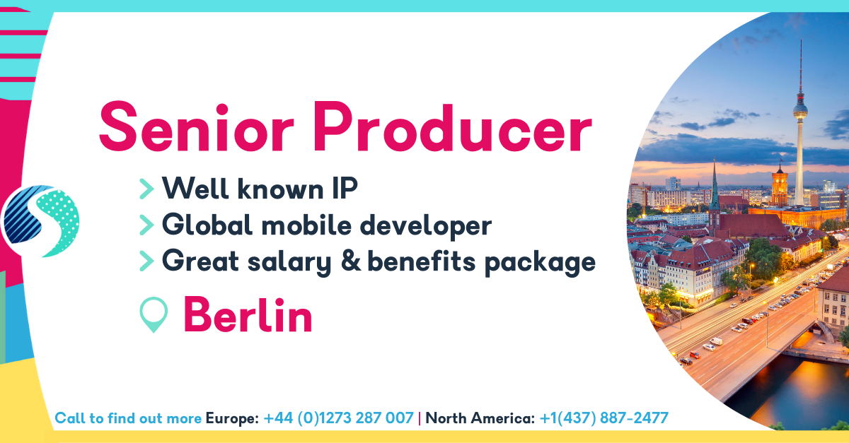 Senior Producer in Berlin - Globally Successful Mobile Developer - Well Known IP - Great Salary & Benefits Package