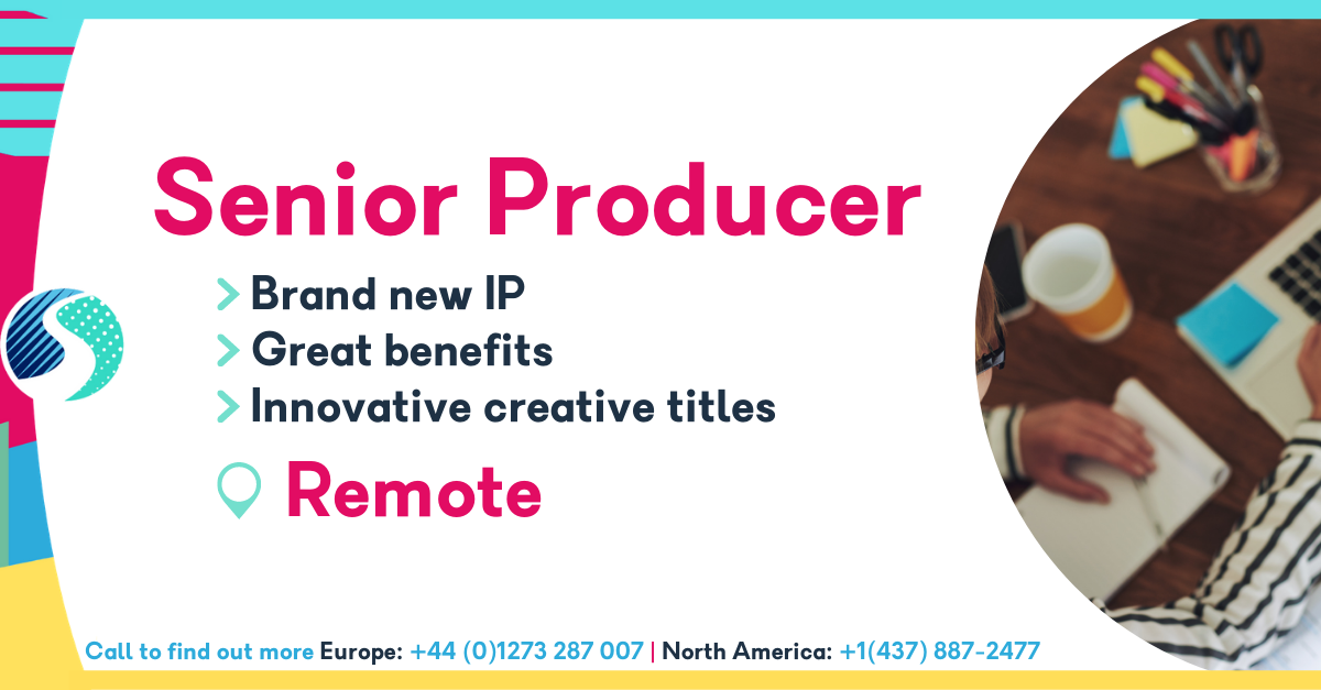Remote Senior Producer - Brand New IP - Great Benefits - Innovative Creative Titles