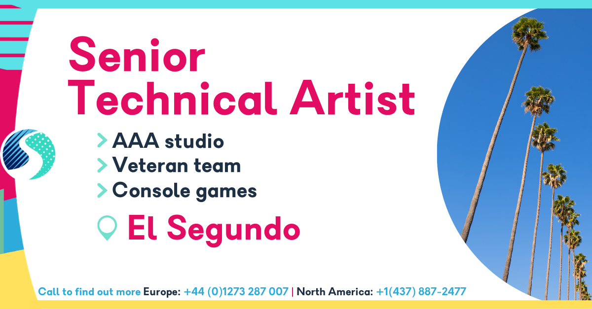 Senior Technical Artist - El Segundo - AAA Studio - Console Games - Veteran Team