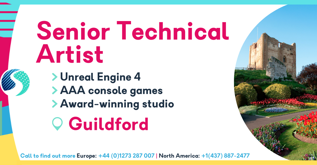 Senior Technical Artist in Guildford Job - Unreal Engine 4 - AAA Console Games - Award-Winning Studio - Image of Guildford Castle