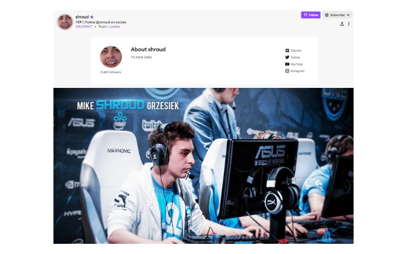 Shroud Twitch Channel