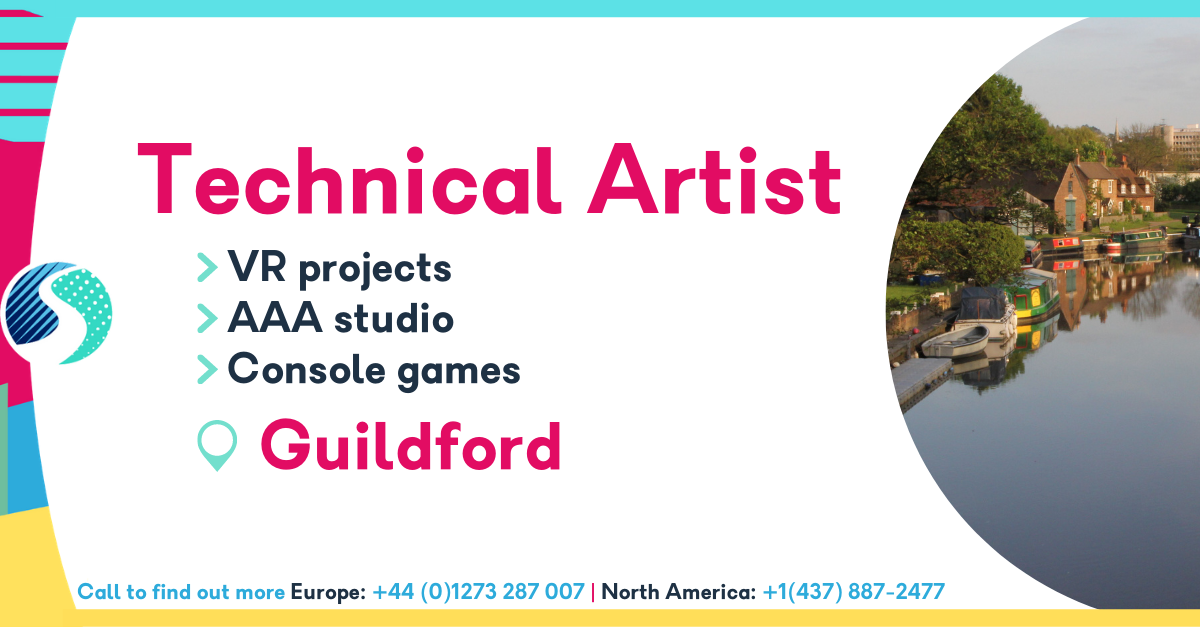 Technical Artist - Guildford - VR Projects - AAA Studio - Console Games