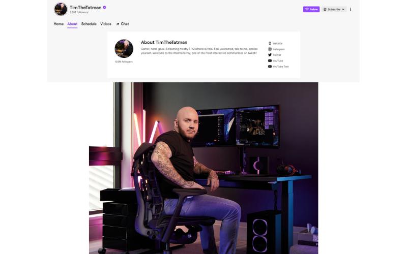 TimTheTatman Twitch Channel