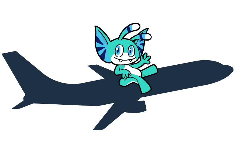 Pyxel on a Plane